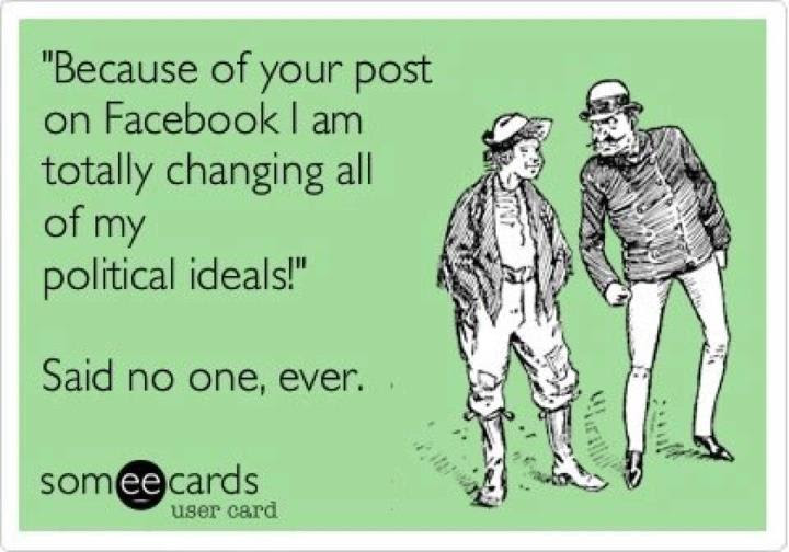 Because Of Your Post On Facebook I Am Totally Changing All My