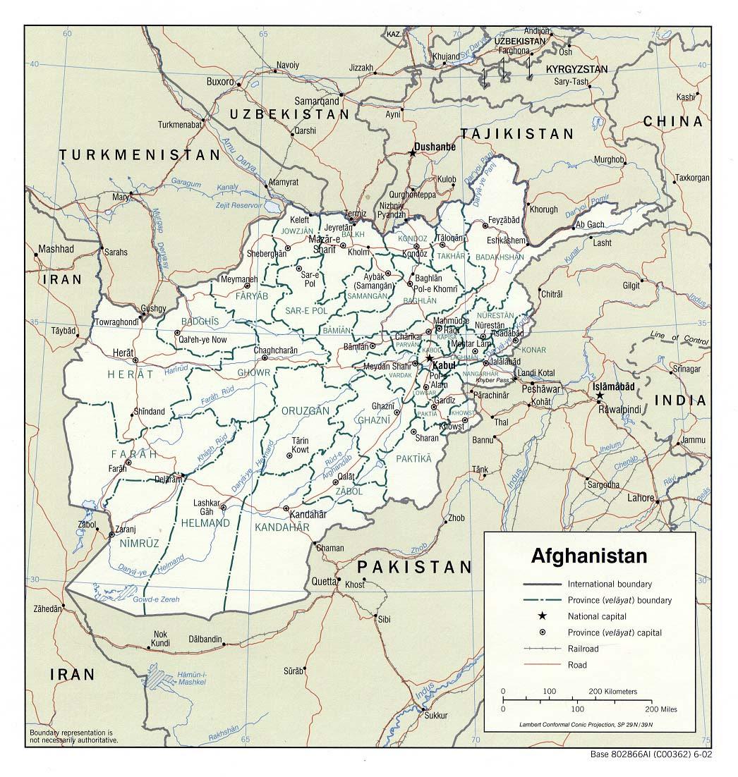 Afghanistan Maps - P