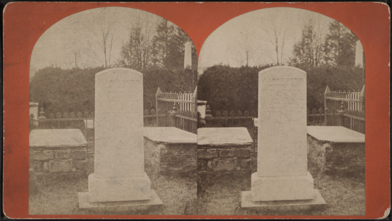 File:Aaron Burr's Monument, College of New Jersey, Princeton, from Robert N. Dennis collection of stereoscopic views.png