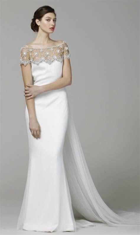 Elegant Off the shoulder Wedding Dress for Older Brides