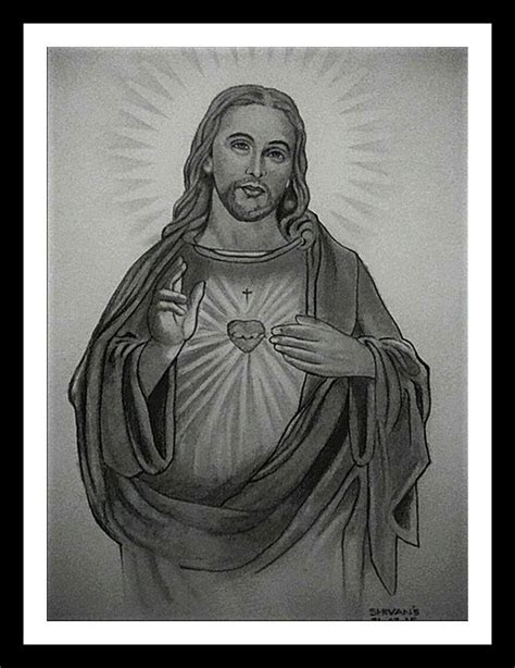 son  god jesus christ painting  artist shivkumar menon