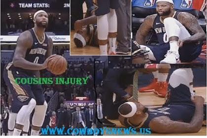 Demarcus Cousins Injury  -  Achilles Ijurry Rockets vs Pelicans