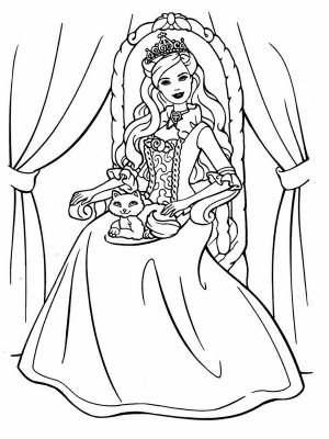 Imagenes De Barbie Para Colorear