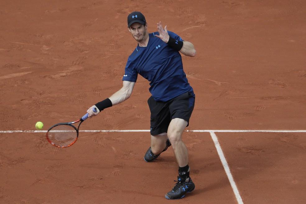 Andy Murray na estreia de Roland Garros (Foto: Thomas SAMSON / AFP)