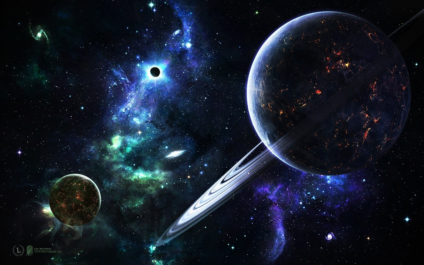 Animated Outer Space Wallpaper
