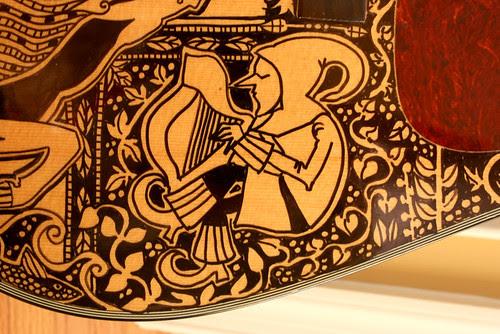 The Sharpie Guitar - detail of harpist