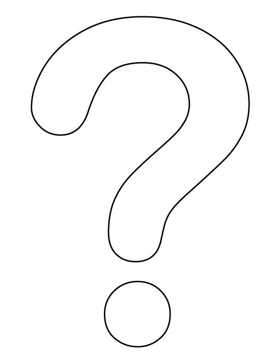 Question mark pattern. Use the printable outline for crafts ...