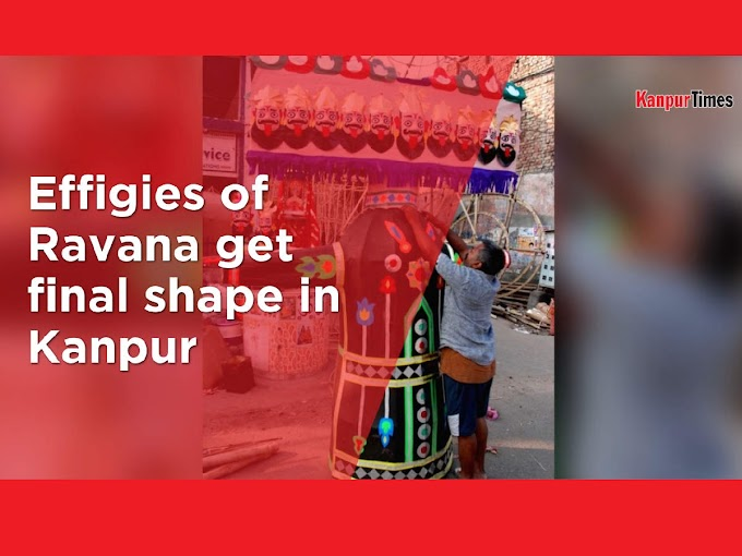 Effigies of Ravana get final shape in Kanpur | Entertainment - Times of India Videos