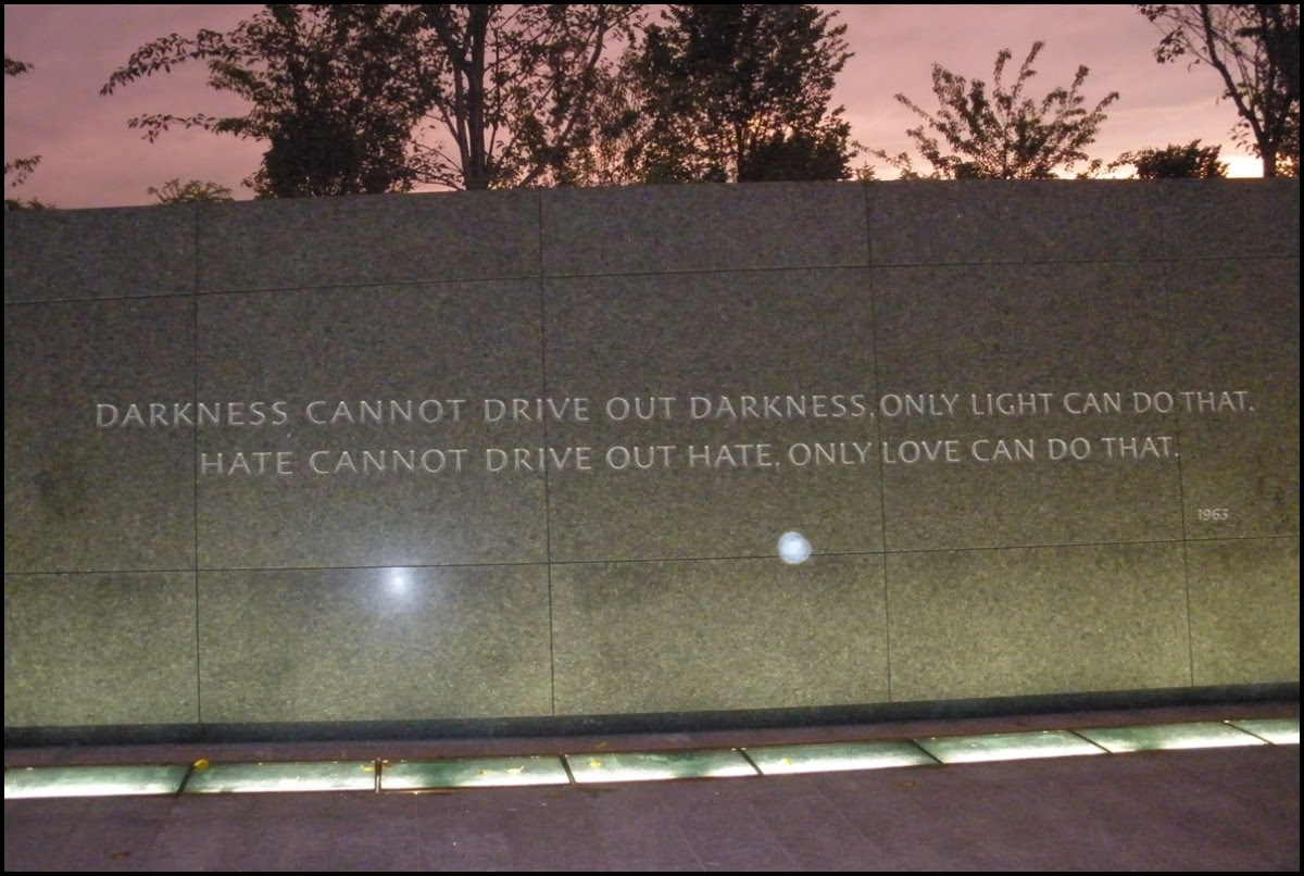 Martin Luther King Jr Memorial Quote Darkness Cannot Drive Out