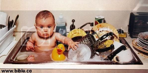 dirty dishes and baby Pictures, Images and Photos