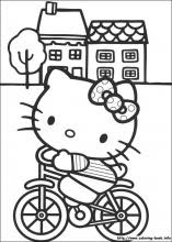 Hello Kitty Coloring Pages On Coloring Book Info