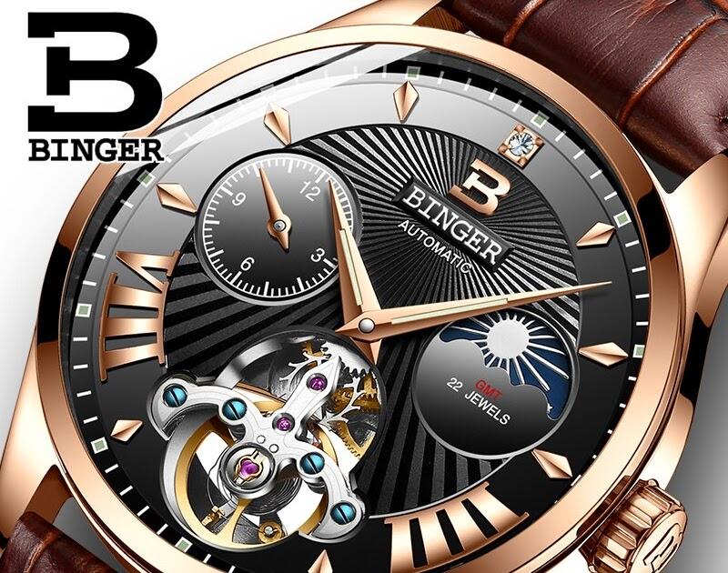 503050db104 Comprar Nova Suíça Auto Mecânica Homens Relógio Binger Relógios Marca De  Luxo Papel B 1186 8 Safira Esqueleto Masculino À Prova D Água Baratas  Online Preço ...