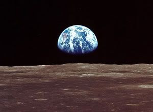 Earthrise as seen by the Apollo 11 astronauts