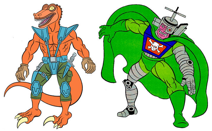 (TMNT Spinoff) ..Mutanimals The Animated Series! - Deinotor & Vid Vicious..[[Courtesy of Ryan Brown]] ((1992))
