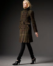 Burberry Brit Long Check Trench