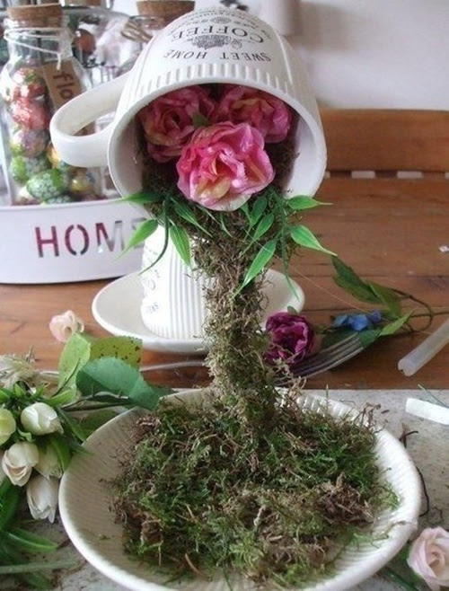 FabArtDIY Easter Egg Tabletop vôo Cup Topiary