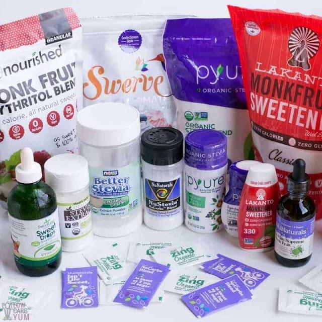 Keto Sweeteners & Low Carb Sugar Substitutes