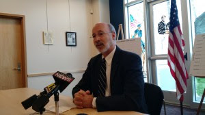 """At a press conference in Kingston, Pa., governor-elect  Tom Wolf called New York's ban on fracking """"unfortunate."""""""