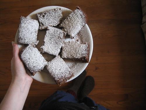 gingerbread for breakfast.