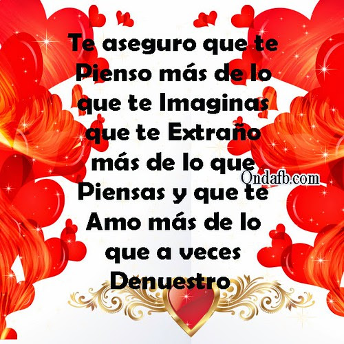 Tarjeta Con Una Linda Frase De Amor Y Fondo De Corazones Para