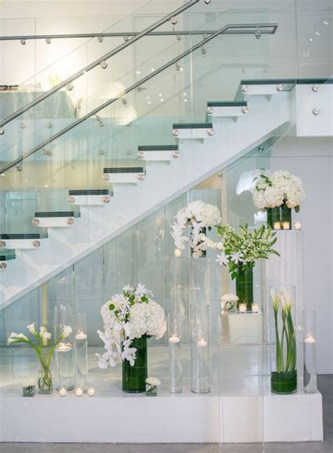 Wedding decor ideas with a modern white wedding flower