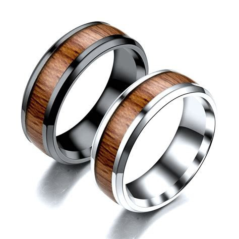 Aliexpress.com : Buy 8mm Vintage Creative Wide Band Wood
