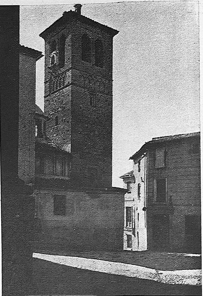 Iglesia de Santa Leocadia a comienzos del siglo XX. Fotografía de Pedro Román Martínez
