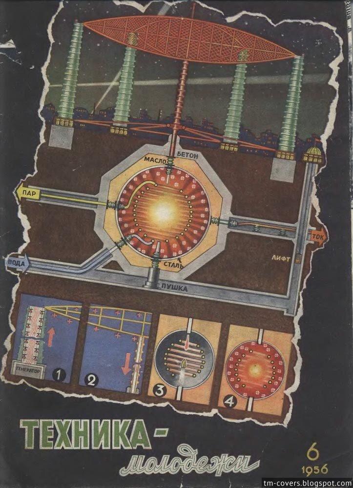 Техника — молодёжи, обложка, 1956 год №6