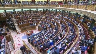 El Congrés dels Diputats en la segona votació del debat d'investidura