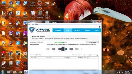 VIPRE Internet Security Virus Scan