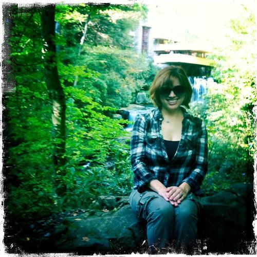 Steph at Fallingwater