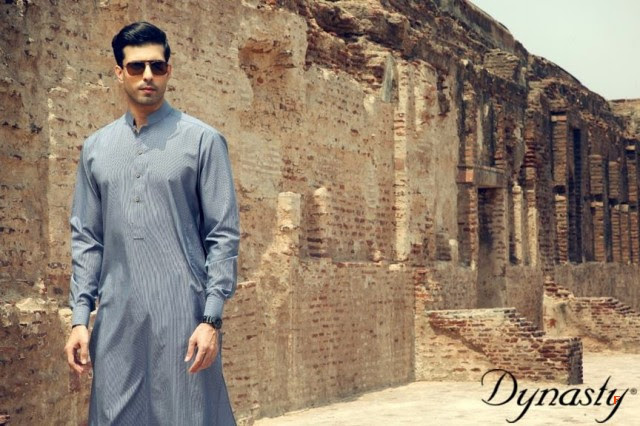 Mens-Wear-Cotton-Embroidered-Kurta-Pajama-By-Dynasty-Fabrics-New-Fall-Collection-2013-14-4