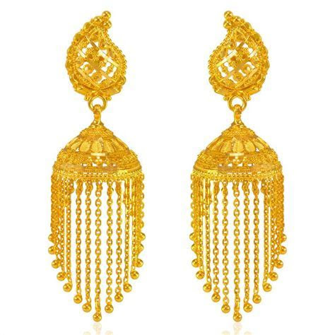 22 Karat Gold Jhumka Earrings   ErEx23357   [Earrings