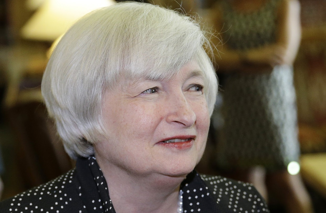 """Federal Reserve Chairwoman Janet Yellen, shown in August, has been watching the jobs numbers closely for signs of diminishing """"slack."""""""