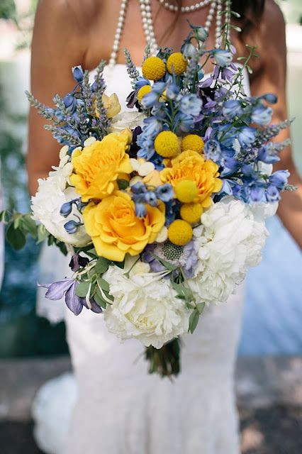 18 Yellow and Blue Bridal Bouquet Ideas for 2017 You Can't ...