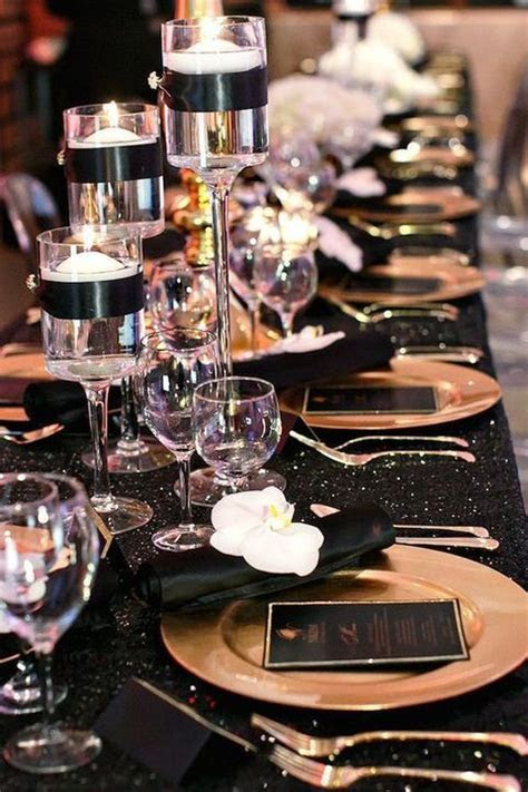 54 Black, White And Gold Wedding Ideas   our day   Black