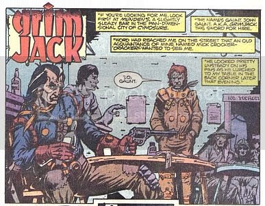 GrimJack's Guide To Drinking Alone. Chapter 1: Brandish a loaded gun.