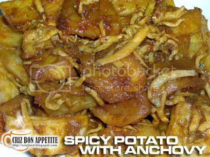 SPICY POTATO WITH ANCHOVY