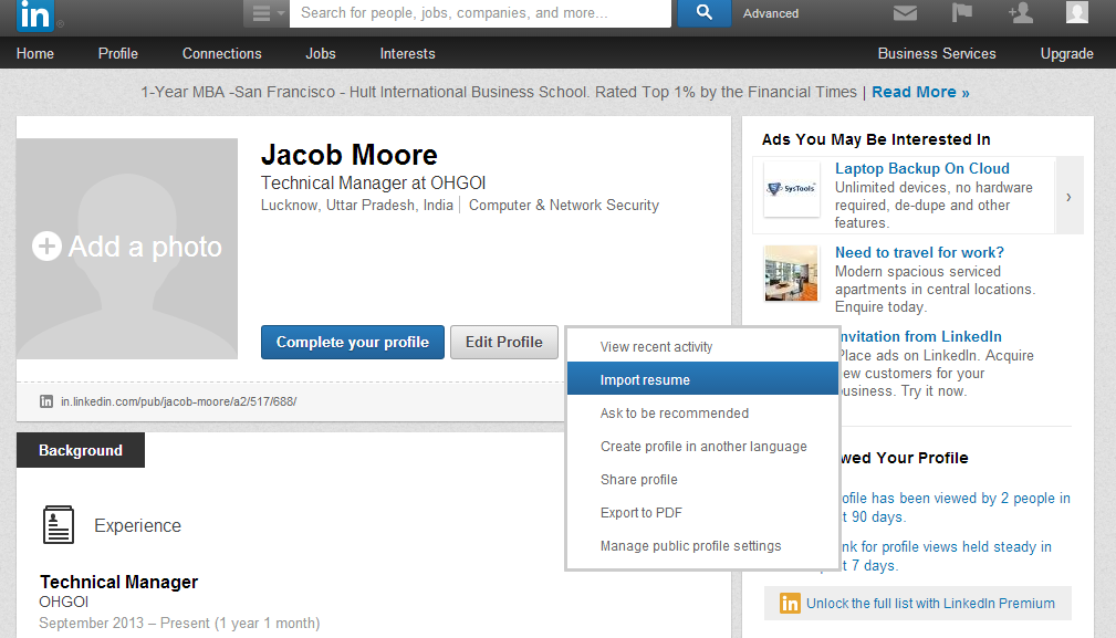 How To Upload Your Resume To Linkedin Toms Guide Forum