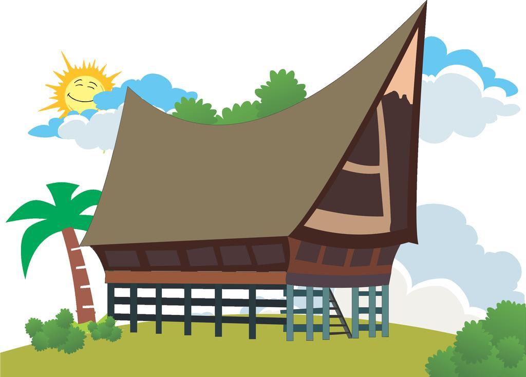 550 Gambar Kartun Rumah Adat Batak Terbaru Gambar Rumah
