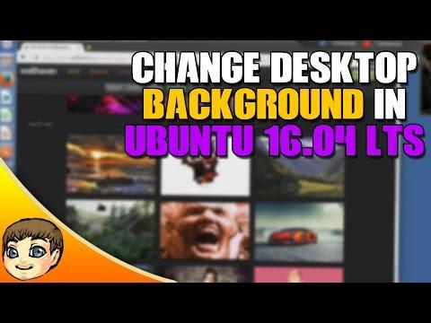 How to change your desktop background in Ubuntu 16.04