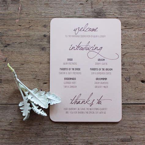 Ceremony program   The Design   Pinterest   Earthy, Floral