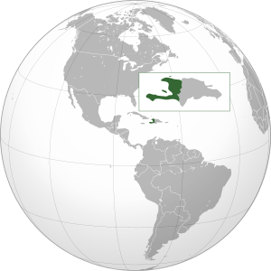 English: Orthographic projection of Haiti.