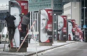 Sotside valimisreklaam Tartu maanteel