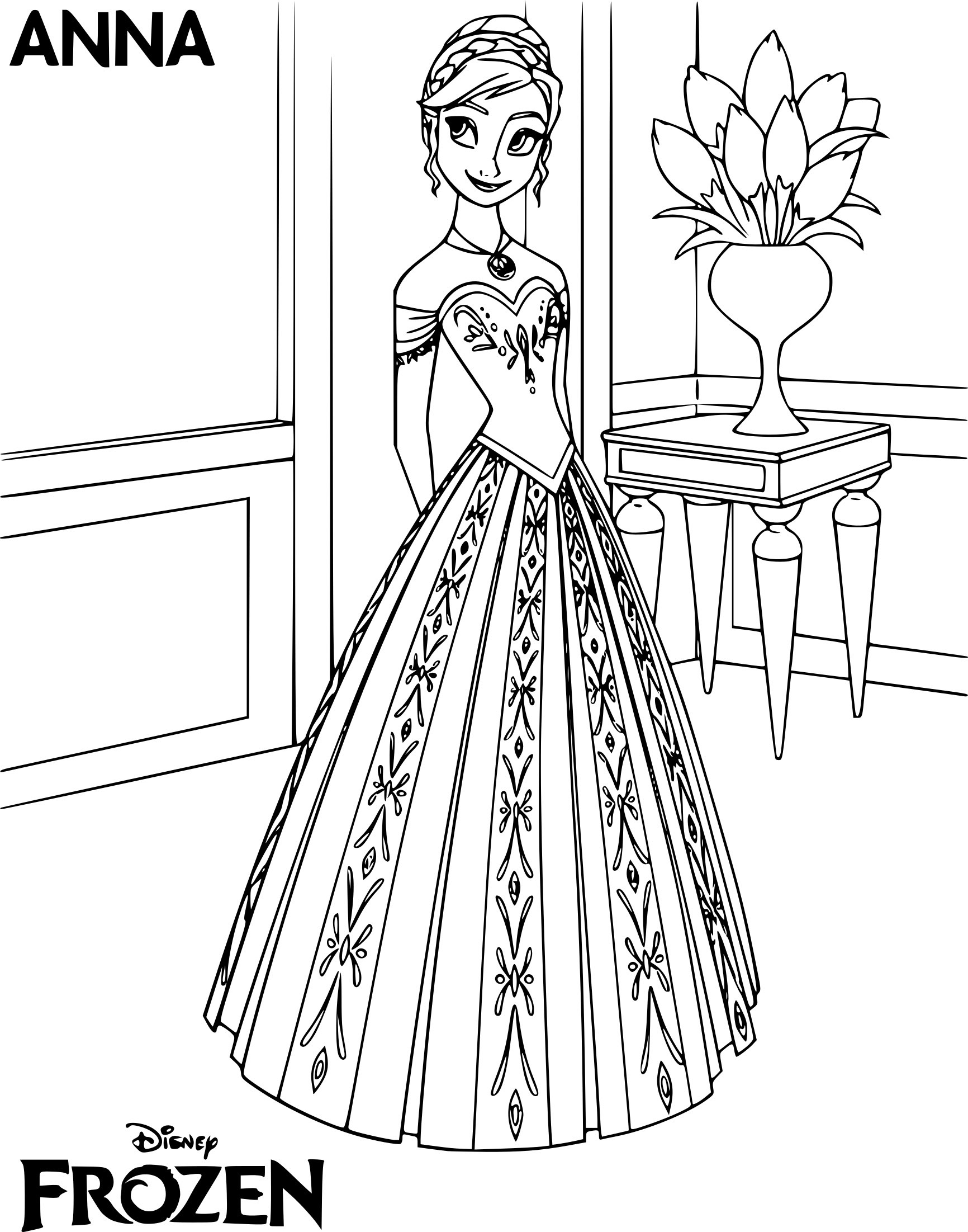 Coloring Pages Anna And Elsa