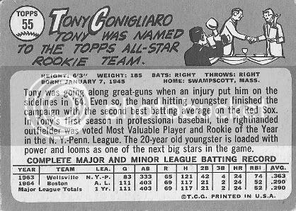 #55 Tony Conigliaro (back)