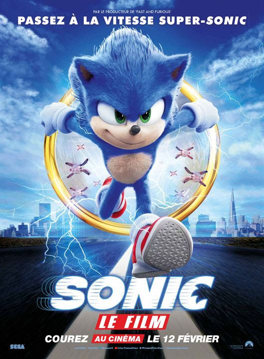 Sonic le film : Affiche