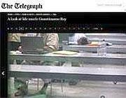 Una delle foto all'interno del carcere di Guantanamo del Sunday Telegraph