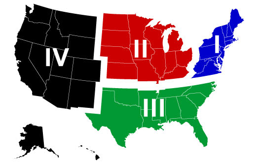 Us Youth Soccer Regions Map Us Youth Soccer Regions Map