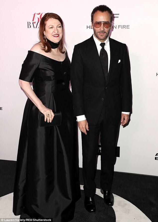 Vestido em seu melhor!  Glenda Bailey e Tom Ford mostraram seu lado sofisticado como eles chegaram